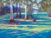 Dappled Light-Warburton Trail - Pamela Gordon - Pastel