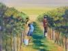 Harvesting the Grapes - Pamela Gordon - Oil