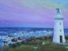 Lighthouse at Sunset - Jill Coulsell - Oil