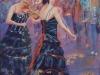 Violin Duo - Pamela Gordon - Pastel